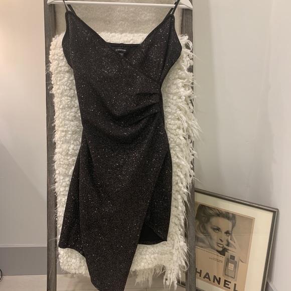 Black Sparkly Bodycon Dress
